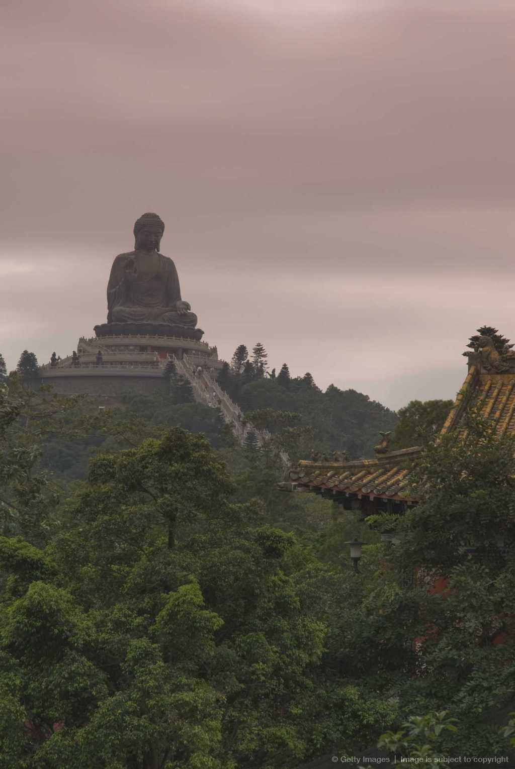 The Big Buddha statue, Po Lin Monastery, Lantau Island, Hong Kong, China, Asia