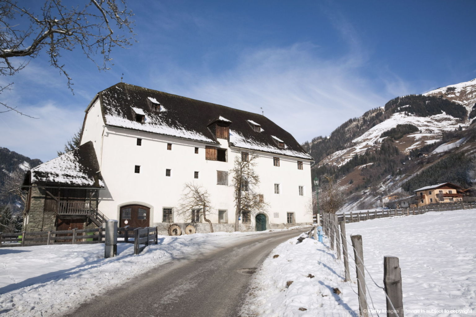 A 16th century historic building Furstenmuhle former bakery and mill dating from 1565, Rauris, Austria, Europe